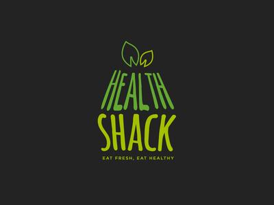 Health Shack Cafe' Logo logo cafe shack health