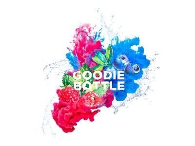 Goodie Bottle Flavoured Tea Branding fruit photoshop illustration fresh 2016 label tea logo colour branding design bottle