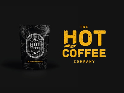 Hot Coffee Company Packaging logo design ideas mockup brand branding coffee company coffee logo packaging