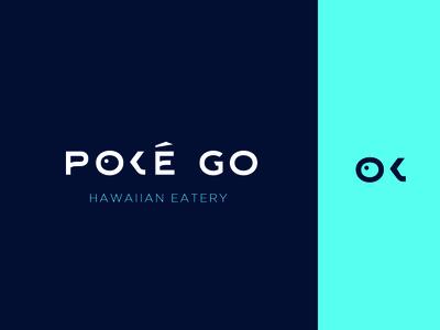 PokéGo Hawaiian Restaurant Logo fish logo branding design branding restaurant branding bar logo logo design 2019 design hawaii logo poke