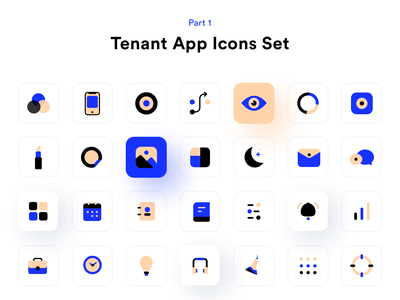 Tenant App icons set part 1 os contact gallery idea menu ai safe privacy security future market planning icons design research ui ux sketch illustration iconset design system icons sharma neel prakhar