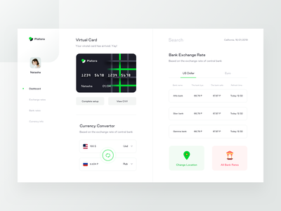 Platora Dashboard (Available for sell) time date card usd us dollars bank location application interface website dashboard convertor currency sketch vector branding money profile icon illustration web sharma neel prakhar