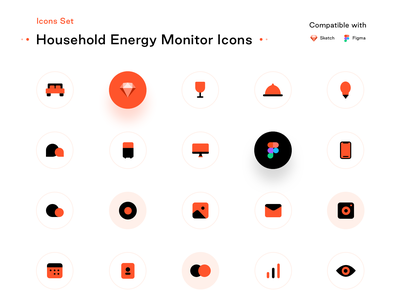 Household energy monitor (Free to download) energy electricity freebie icons illustration rooms ui ux kit pricing smarthome designer sharma neel prakhar uidesign ui ux figma xd sketch download free open source freebies