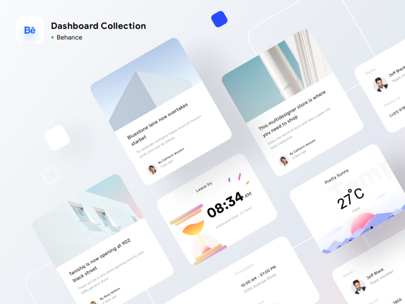 Dashboard collection on BEHANCE sketch xd photoshop figma ux minimal components casestudy behance logo branding icon icons web design dashboard website user illustration ui app web sharma neel prakhar