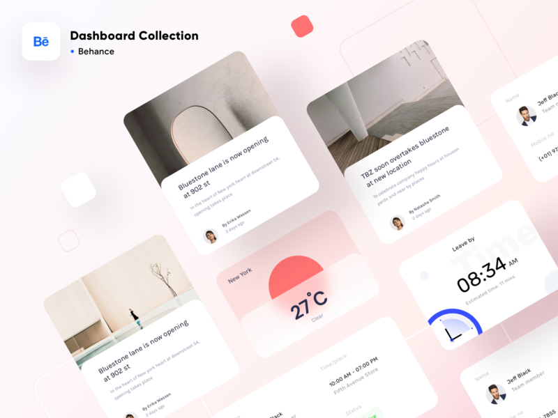 Dashboard collection on BEHANCE presentation trending minimal behance time date weather photoshop illustrator sketch xd figma vector design icons illustration website web dashboard app ui sharma neel prakhar