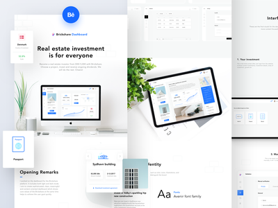 Brickshare Dashboard on BEHANCE bank ux dashboard design project rent apartment investment real estate property dashboard design logo icon illustration web app ui sharma neel prakhar