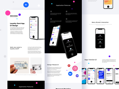Rewards App case-study on BEHANCE loyalty card app discount casestudy behance figma sketch uidesign visual mobile ui application mobile ux vector design ios ui illustration app sharma neel prakhar