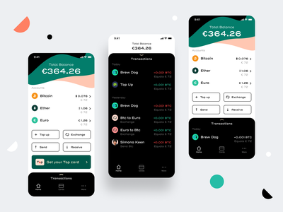 Designs for a Fintech related App integrations account spending bank security reports automate cryptocurrency design expenses ios android interaction userinterface ui debit card creditcard fintech finance sharma neel prakhar