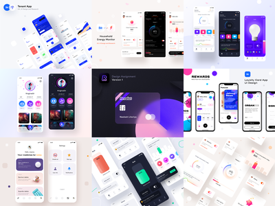 2020 Selected Mobile App related works user interface experience ux ipad google dark light icon 2020 mobile android iphone search dashboard ios design illustration ui app sharma neel prakhar