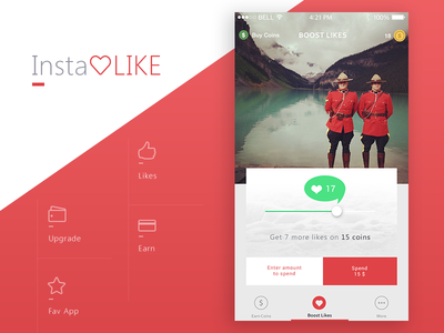 Prakhar Neel Sharma / Projects / Instalike app | Dribbble