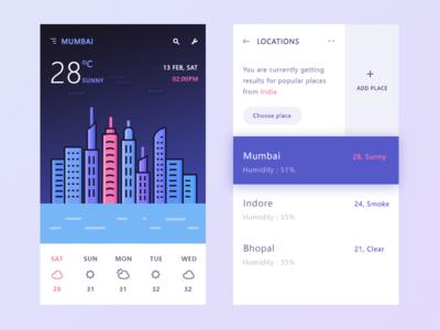 My favourite weather app humidity temperature neel mumbai ui app weather