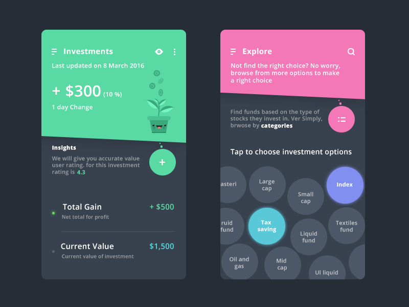 Investments With Explore By Prakhar Neel Sharma On Dribbble