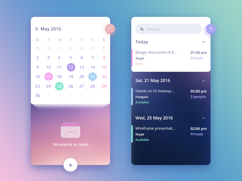Calendar Design Concept : N calendar app concept by prakhar neel sharma dribbble