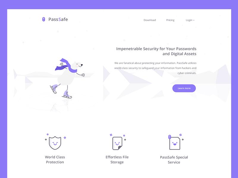 PassSafe web (Refined one) storage web ui security secure password print finger encryption bear
