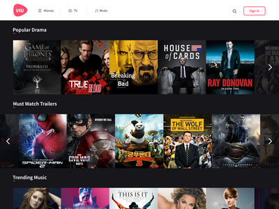 Viu Design Test (for streaming programs or movies) player video drama movies music tv stream