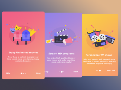 Suggested onboarding for VIU (Design work)