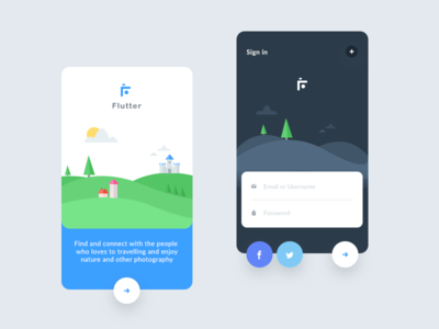 Flutter designs, themes, templates and downloadable graphic
