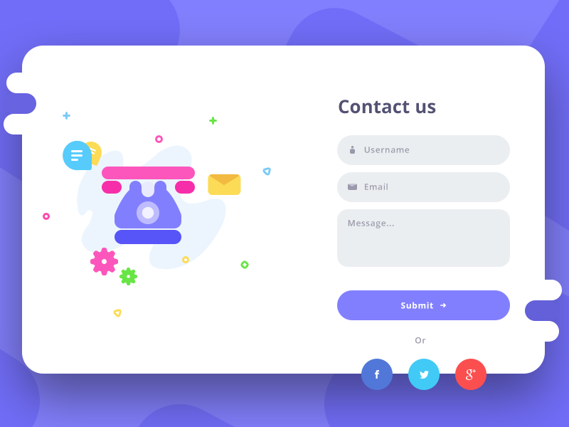 Contact us form bubble chat settings name email message telephone ui web us contact