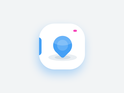 Photography App Icon Final Version pin location flare camera lens ui app photography