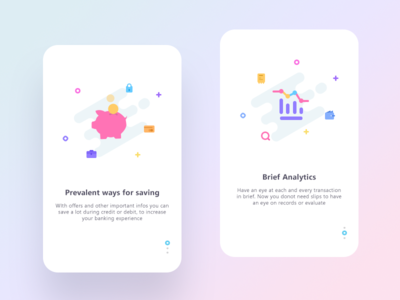 Banking experience (Onboarding) analytics wallet graph save app ui bank