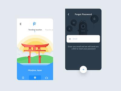 Trending+forgot password (flutter app) username email post feed location photos photograph app ui password forgot flutter