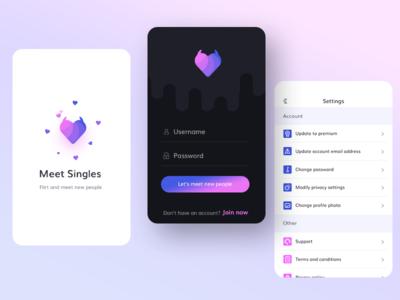 Dating App  premium update settings password username login stranger meet single ui app dateing