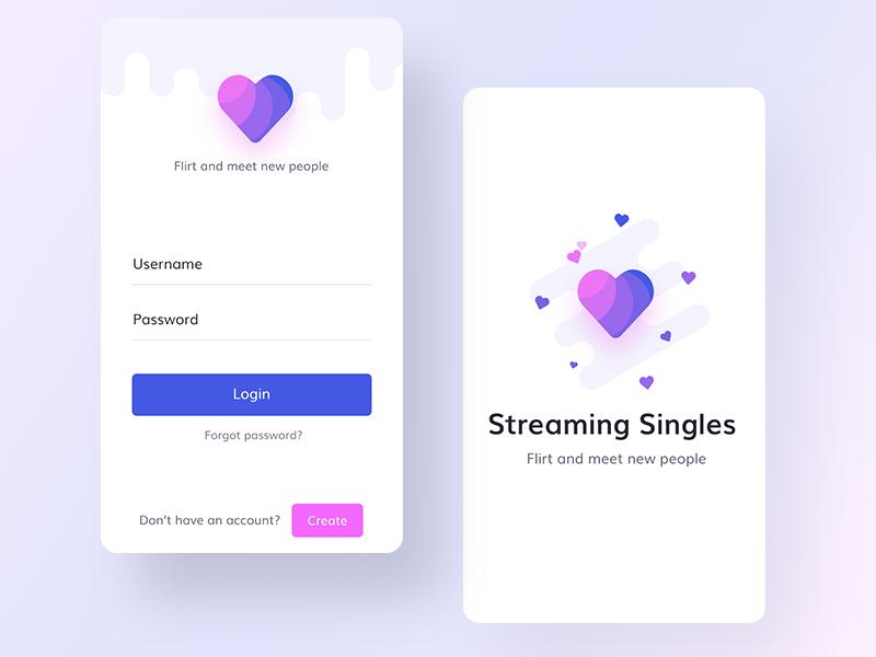 Dating app mock ups