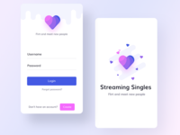 Dating app mock ups