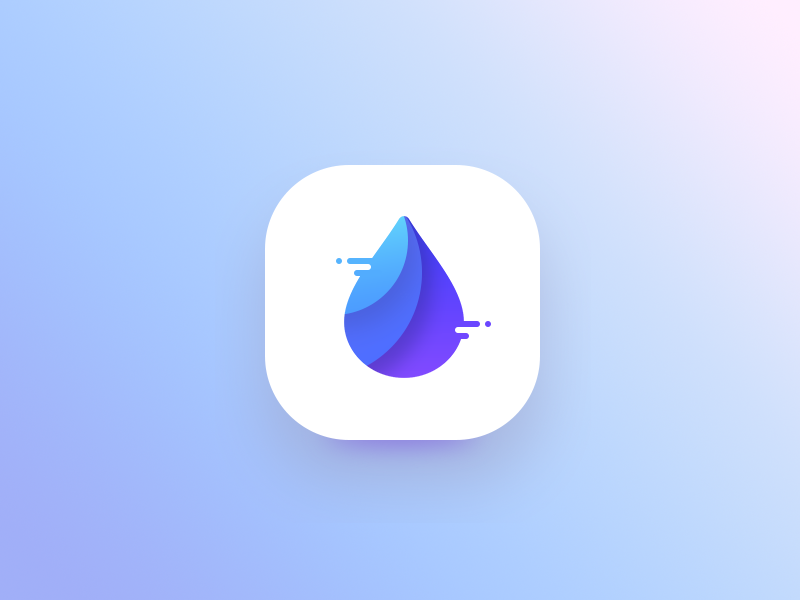 water app icon proposal 2 ui glass blue drop icon litre app water