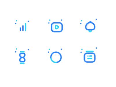 Icons for upcoming web app calendar graph timer notification video network ui web icons