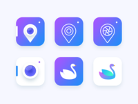 Location based Photography app icon Exploration