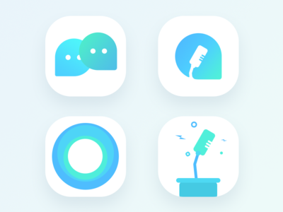 Political Discussion app icon (WIP) conversation stand table circle party bubbles chat mic icon app political politics