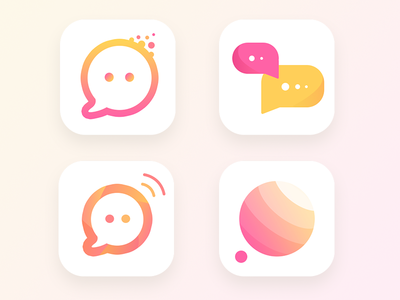 Political Discussion App Icon (WIP-3) mic party ui table stage discussion conversation bubble chat ios icon app
