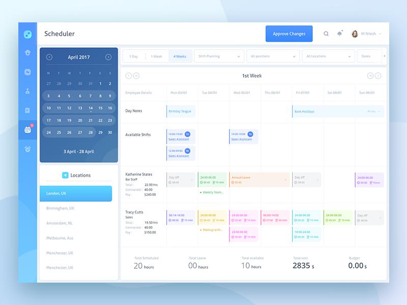 Calendar Booking Ui : Scheduler test assignment by prakhar neel sharma dribbble