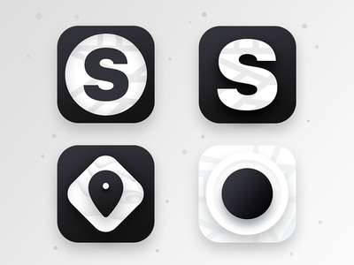 Spots app icon (WIP 4) services gps share icon app map pin location geographic spots