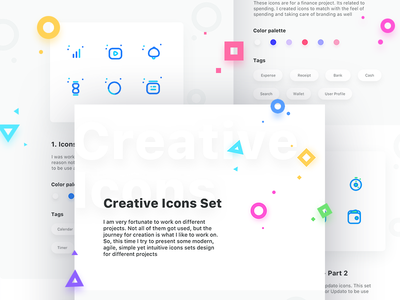 Creative Icons Set  tools graph notifications settings preferences sets share user icons