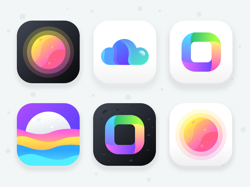 Unused App Icons (Collection 2) night dreams stars mars halfmoon planet sky security server cloud moon sun icon app weather