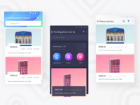 Property App Home Versions (Dark and light layouts)