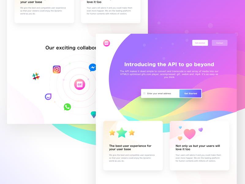 API page (Unused element part 24) api gif share people partner team group email address contactus web