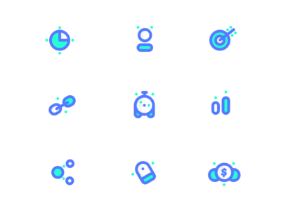 Marketing/SEO icons style exploration