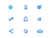 Marketing/SEO icons style exploration