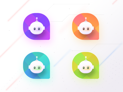 Chat bot Logo samples communication chatbot group people app ui robot illustration logo bot chat