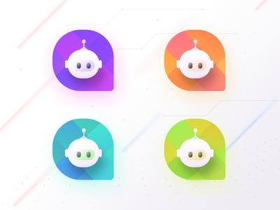 Chat bot Logo samples