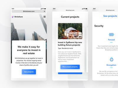 Brickshare home web (mobile version)