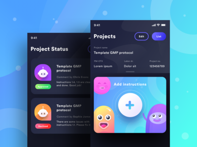 Documentation app (Dark Mode)