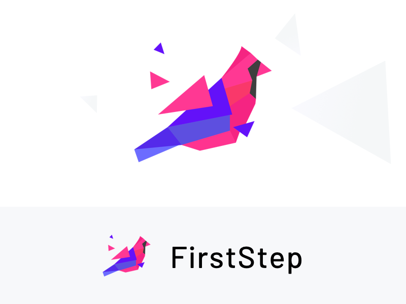 Firststep Logo proposal finance business investment company cash fund money icon freedom liberty mosiac logo finance