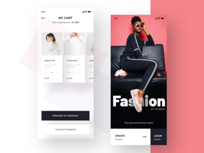 e-commerce ui mockup quantity color size debit card credit debit payment shopping checkout create account create login mycart ui-kit ui ecommerce fashion