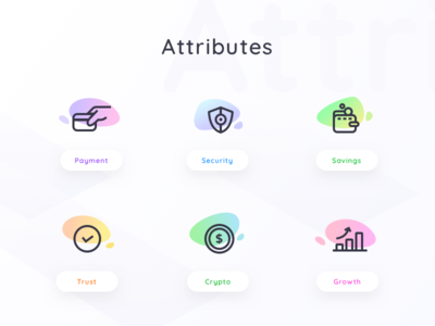 Icons set for a cryptocurrency platform illustration people money growth trust cash payment wallet crypto wallet safety security savings cryptocurrency icons