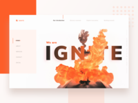Website for a digital agency : Ignite
