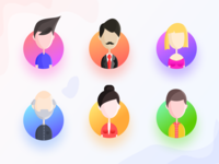 Team section avatars